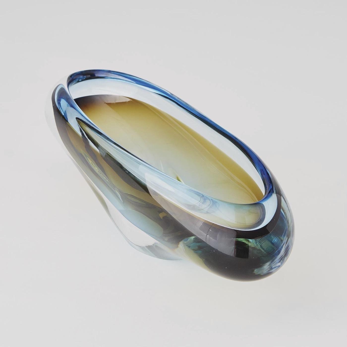Caruso Glass Bowl | Blue & Gold