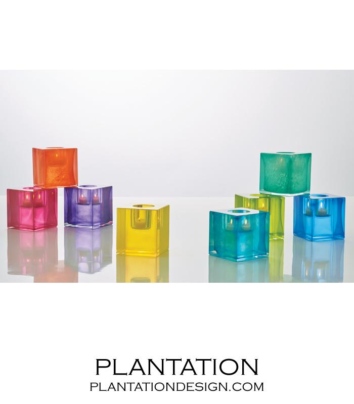 Bijou Art Glass Votive   Chartreuse