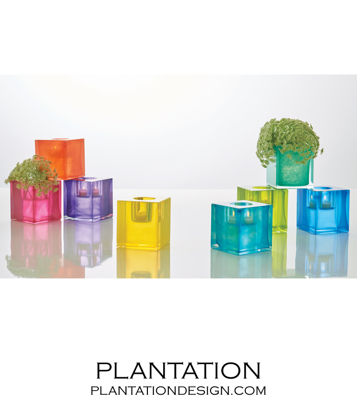 Bijou Art Glass Votive | Yellow