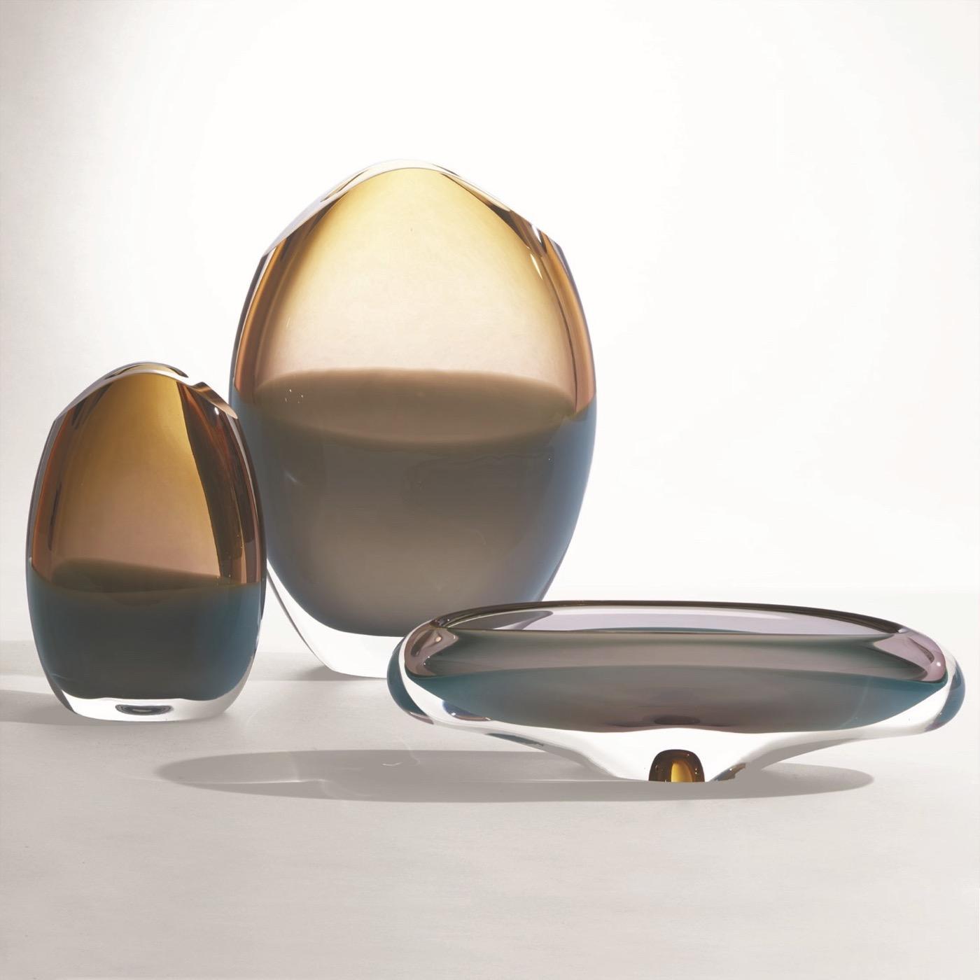 Caruso Glass Bowl | Aqua