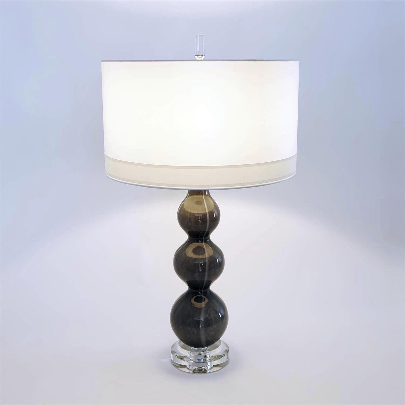 Stratus Glass Lamp | Dark Grey
