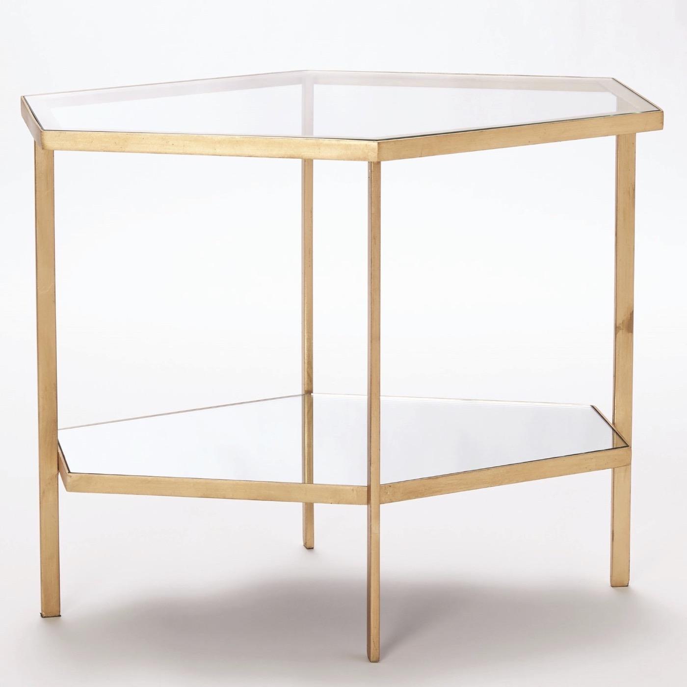 Virgil Hex Tables | Gold Leaf