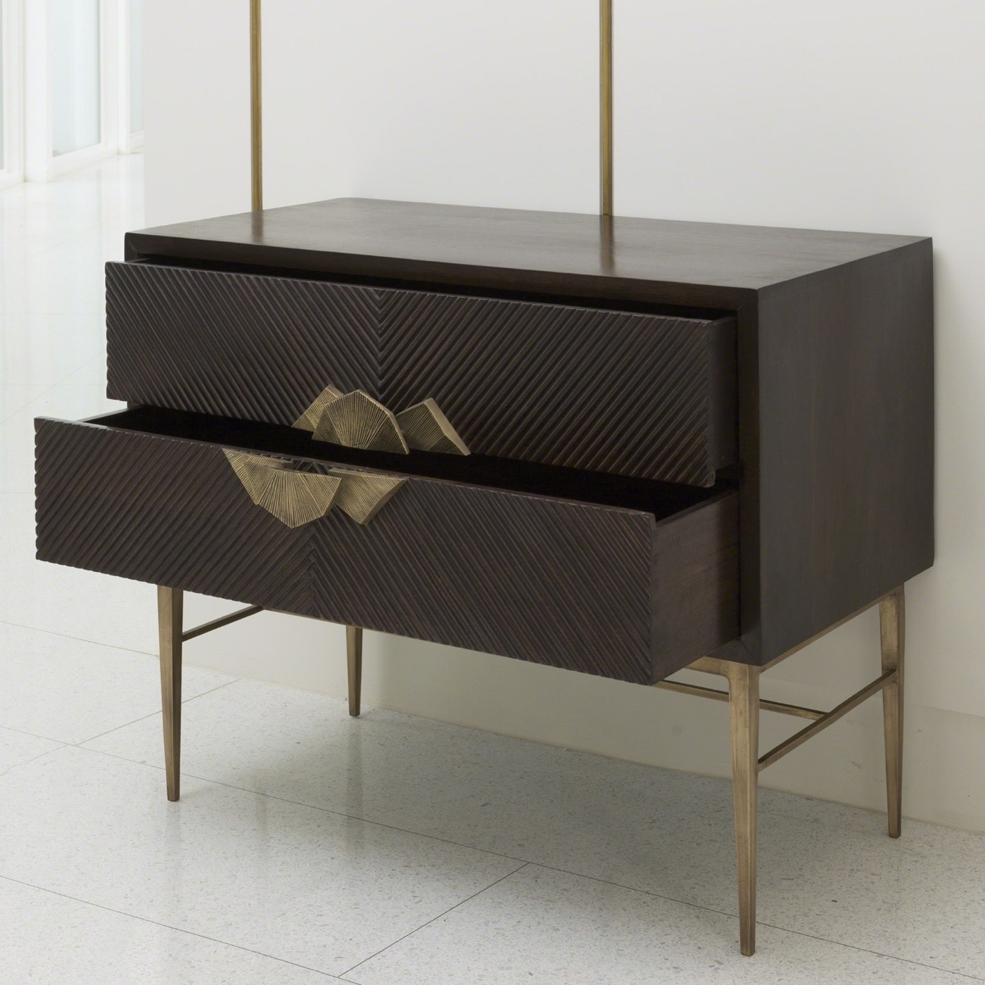 Ecuador Wood & Brass Chest
