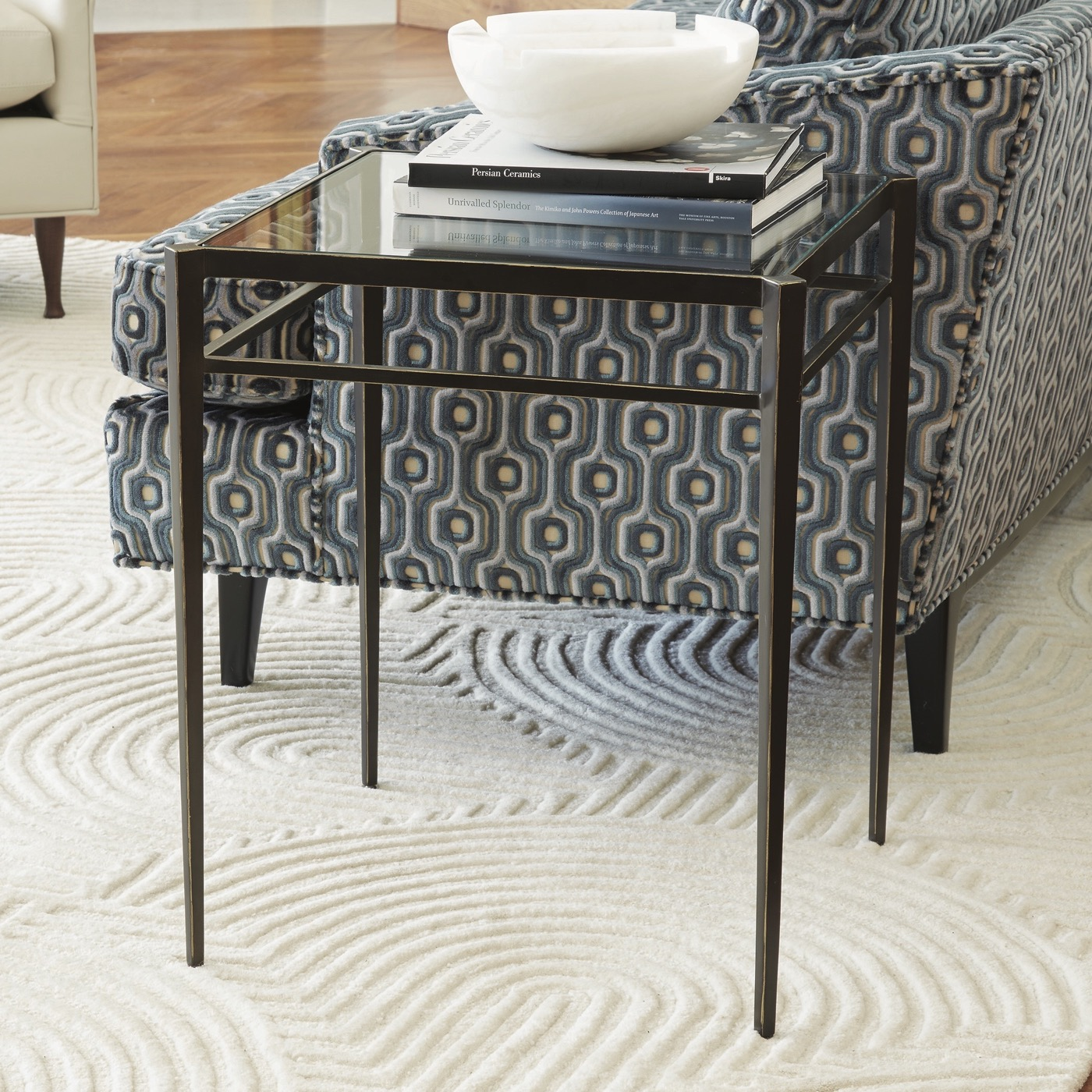 Harper Bronzed Side Table | Tall