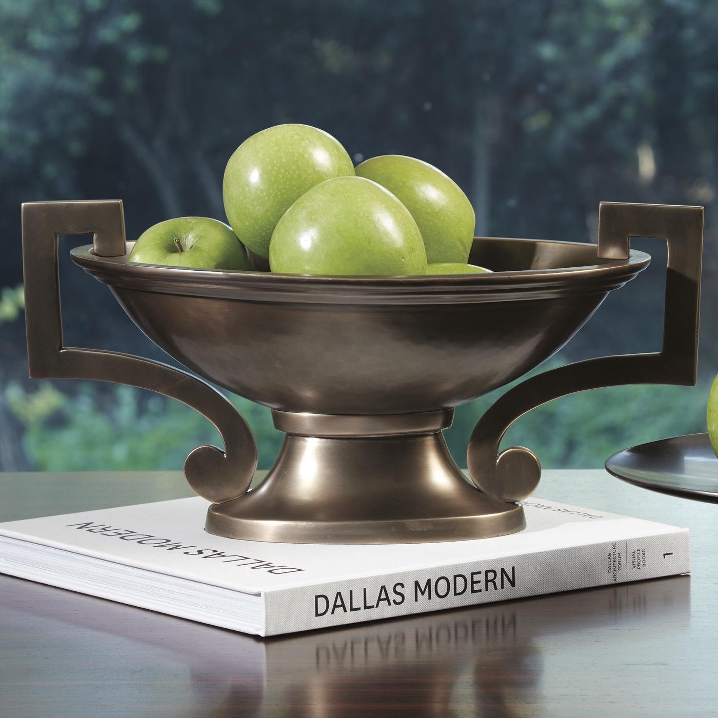 Evonna Pedestal Bowl | Bronze