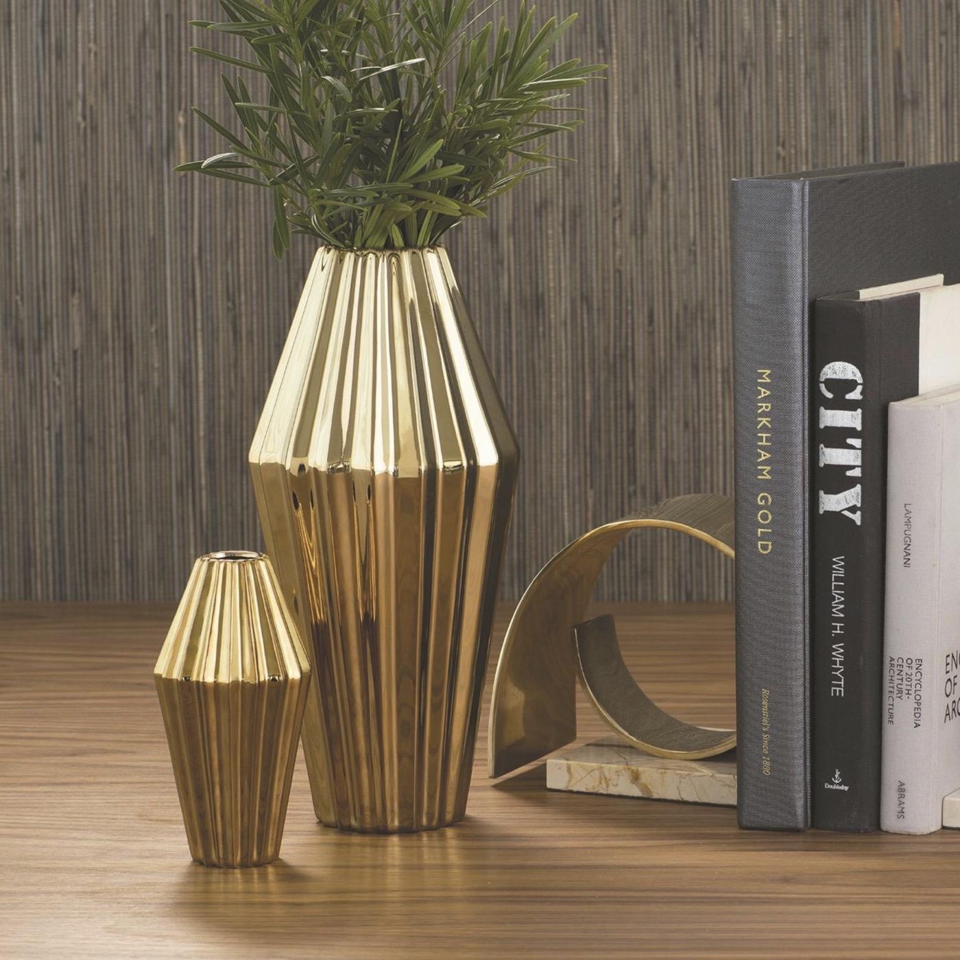 Paros Ceramic Vases | Gold