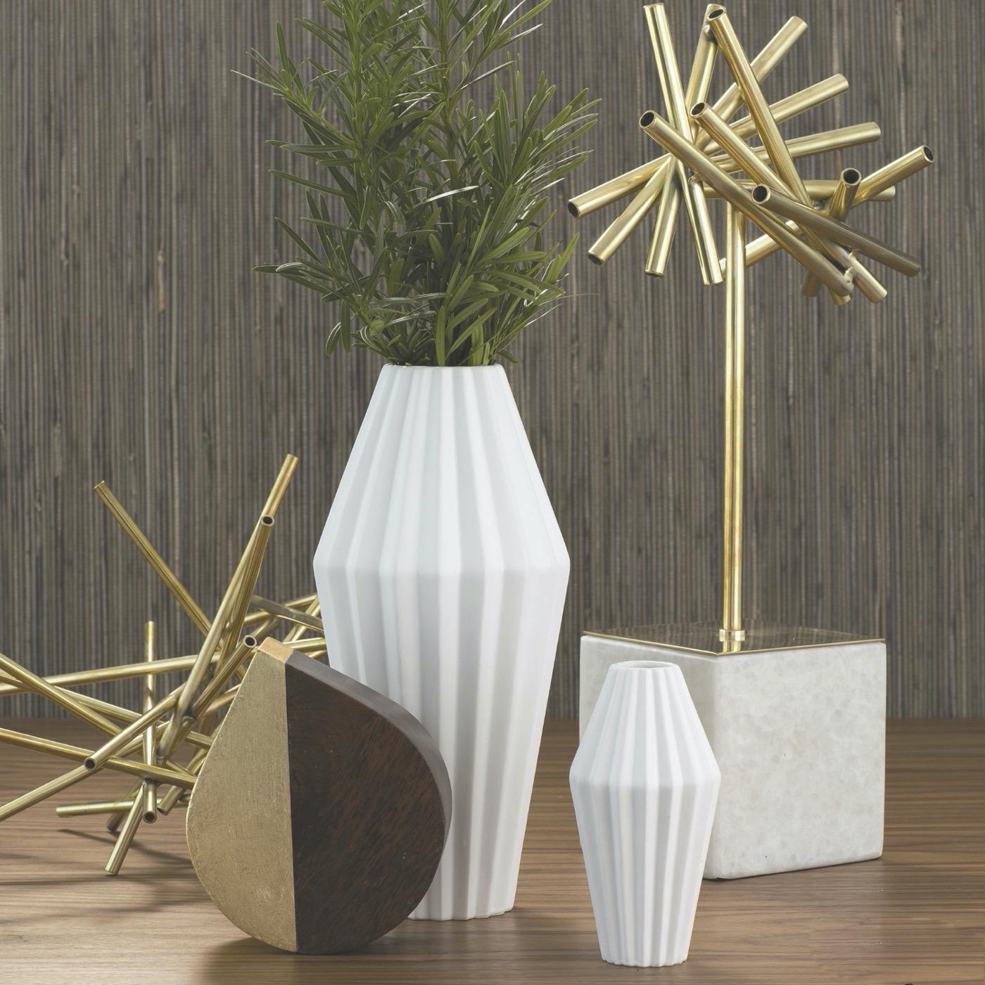 Paros Ceramic Vases | White