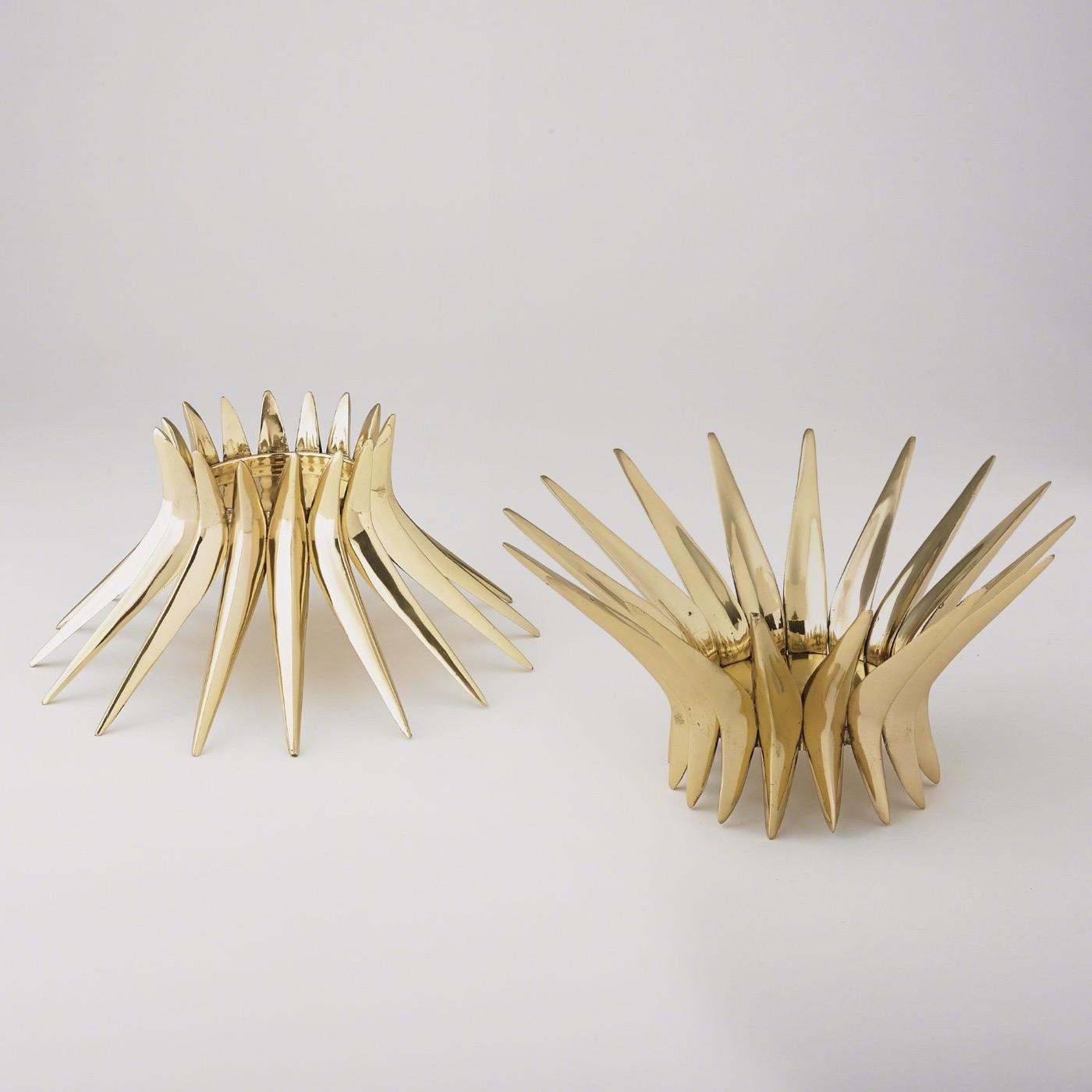 Zenith Brass Pillar Candleholder