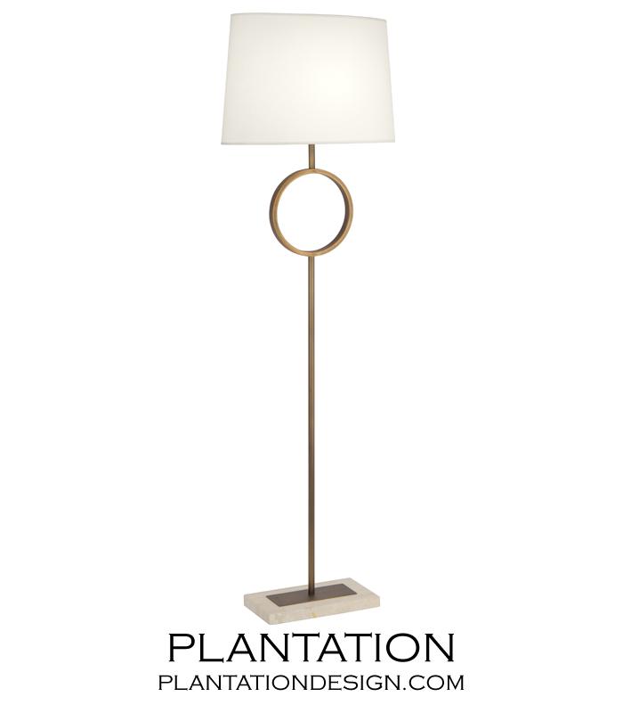 Liza Floor Lamp | Brass