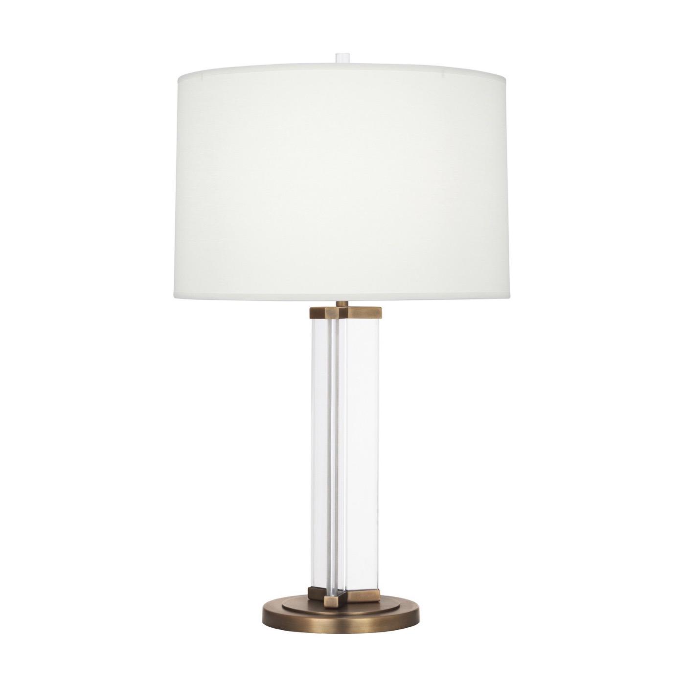Yael Narrow Crystal Lamp | Brass