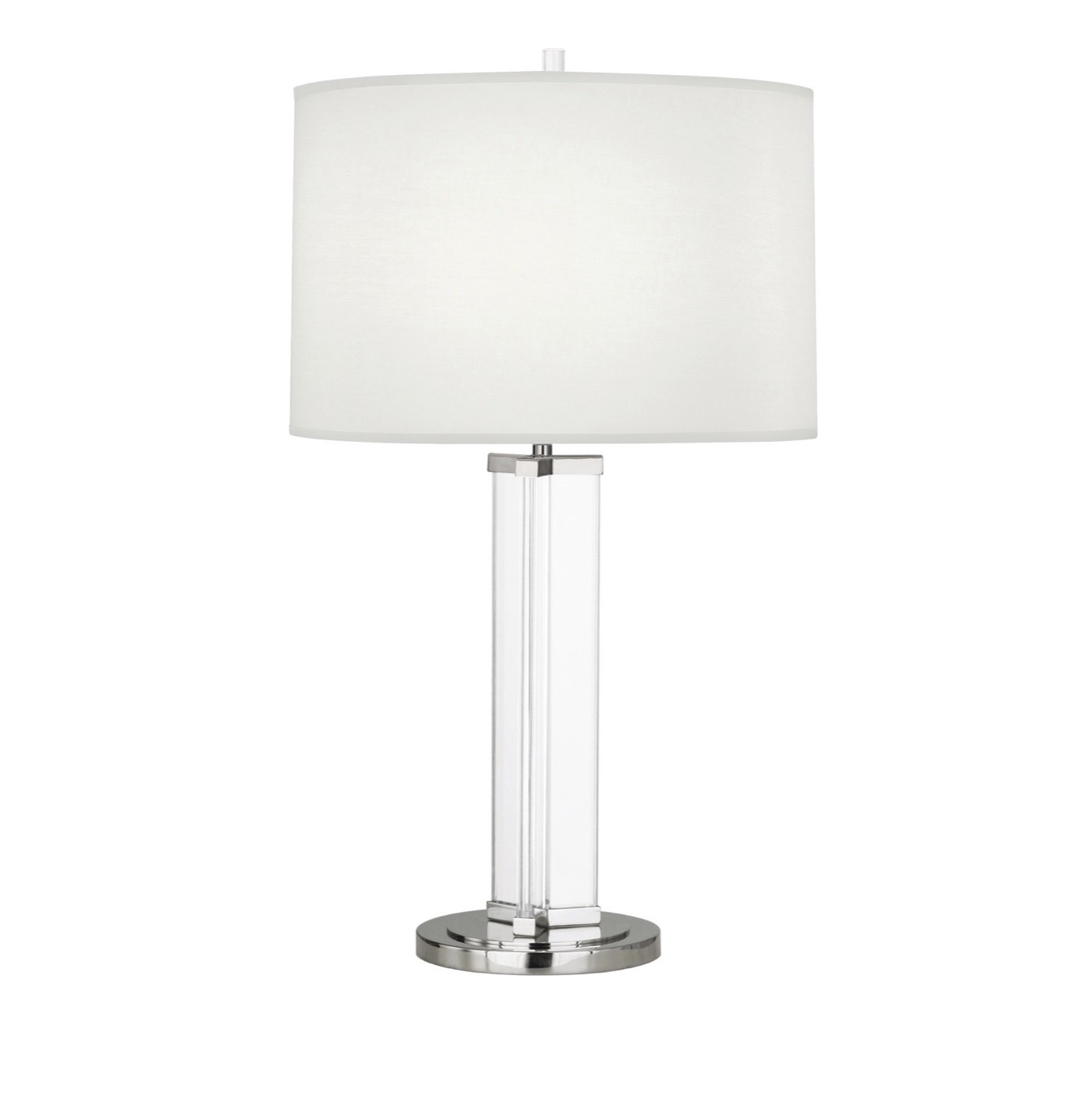 Yael Narrow Crystal Lamp | Nickel