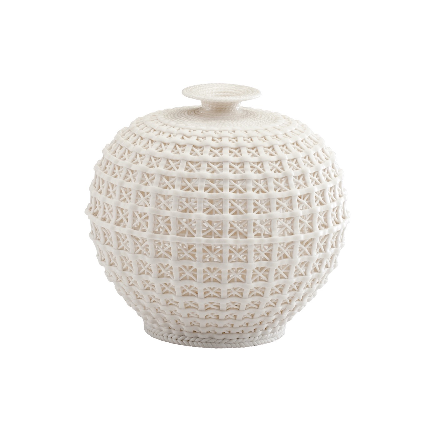 Caroline Lattice Ceramic Vases