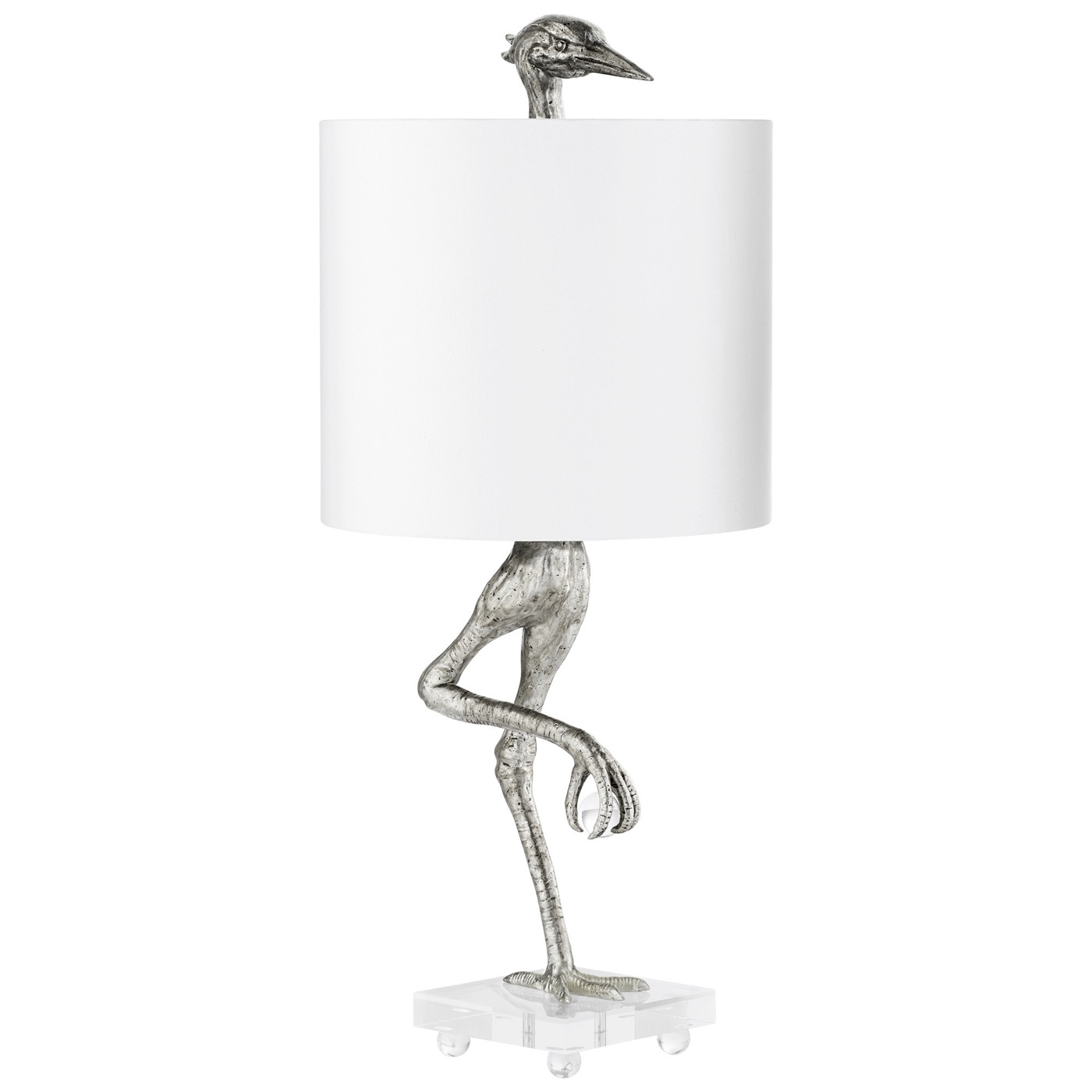 Canard Table Lamp | Silver