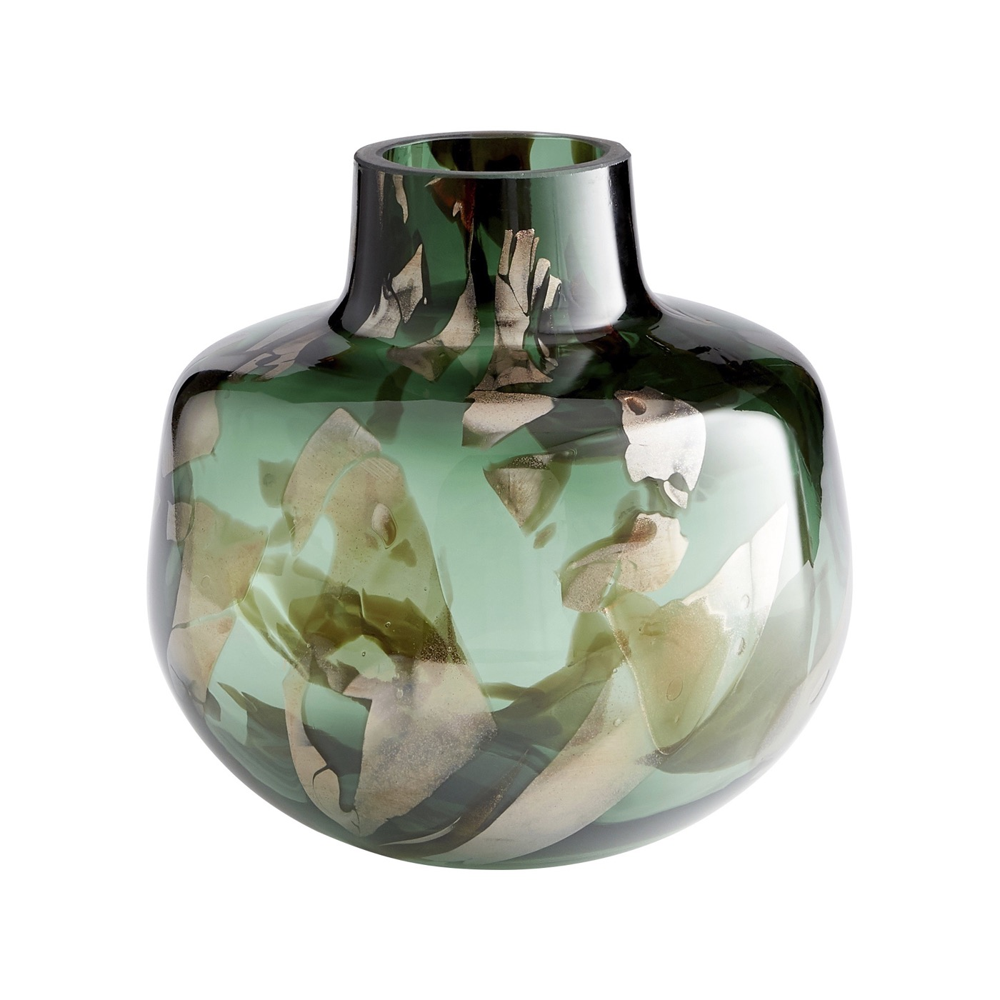 Mayella Green Glass Vases