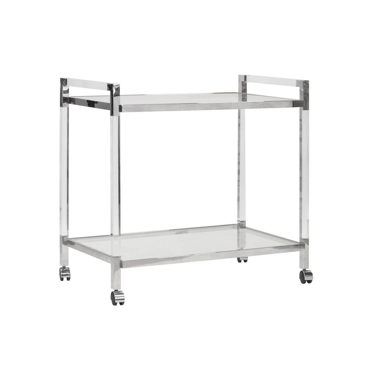 Jayson Bar Cart | Nickel