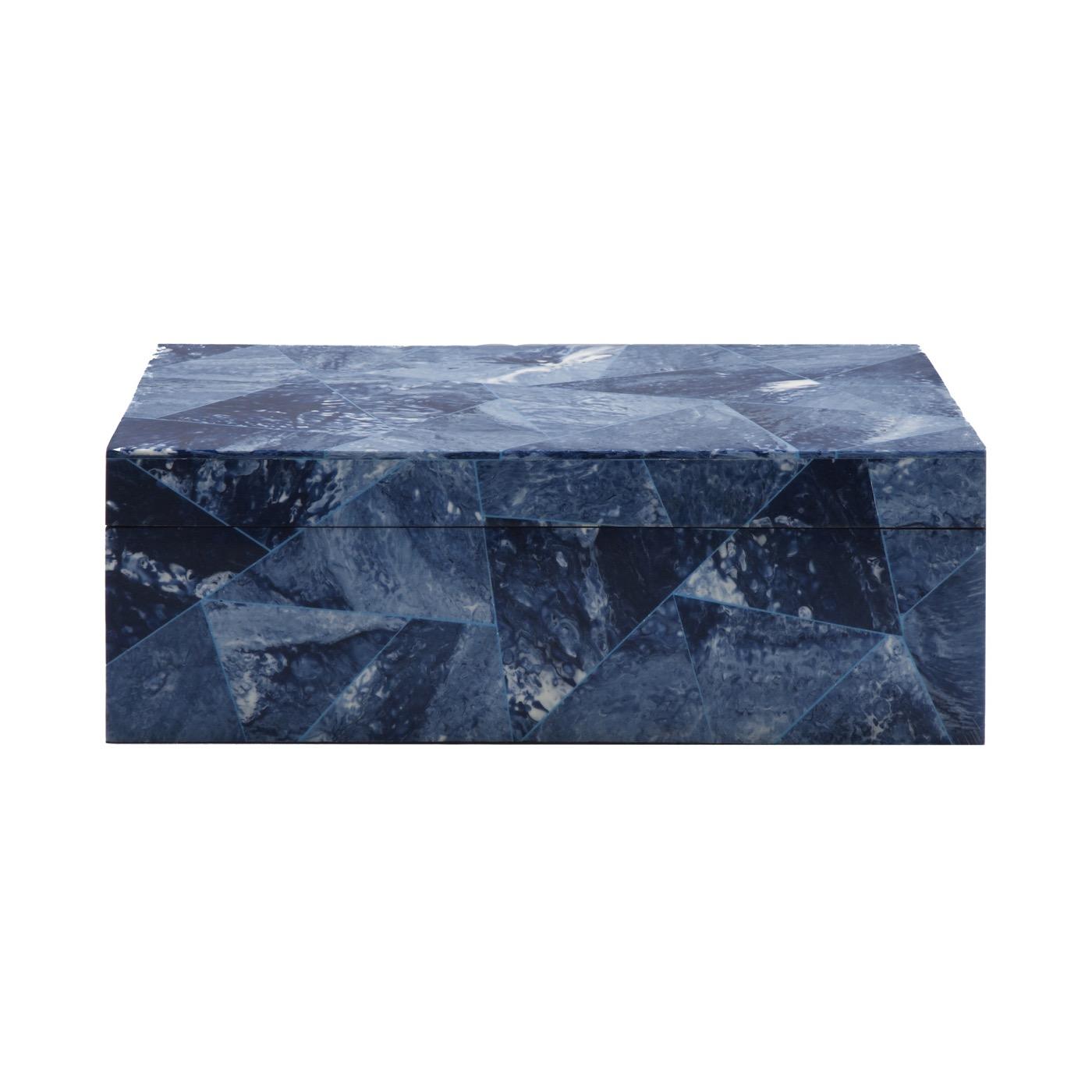 Zimbo Tiled Box | Blue Triangle