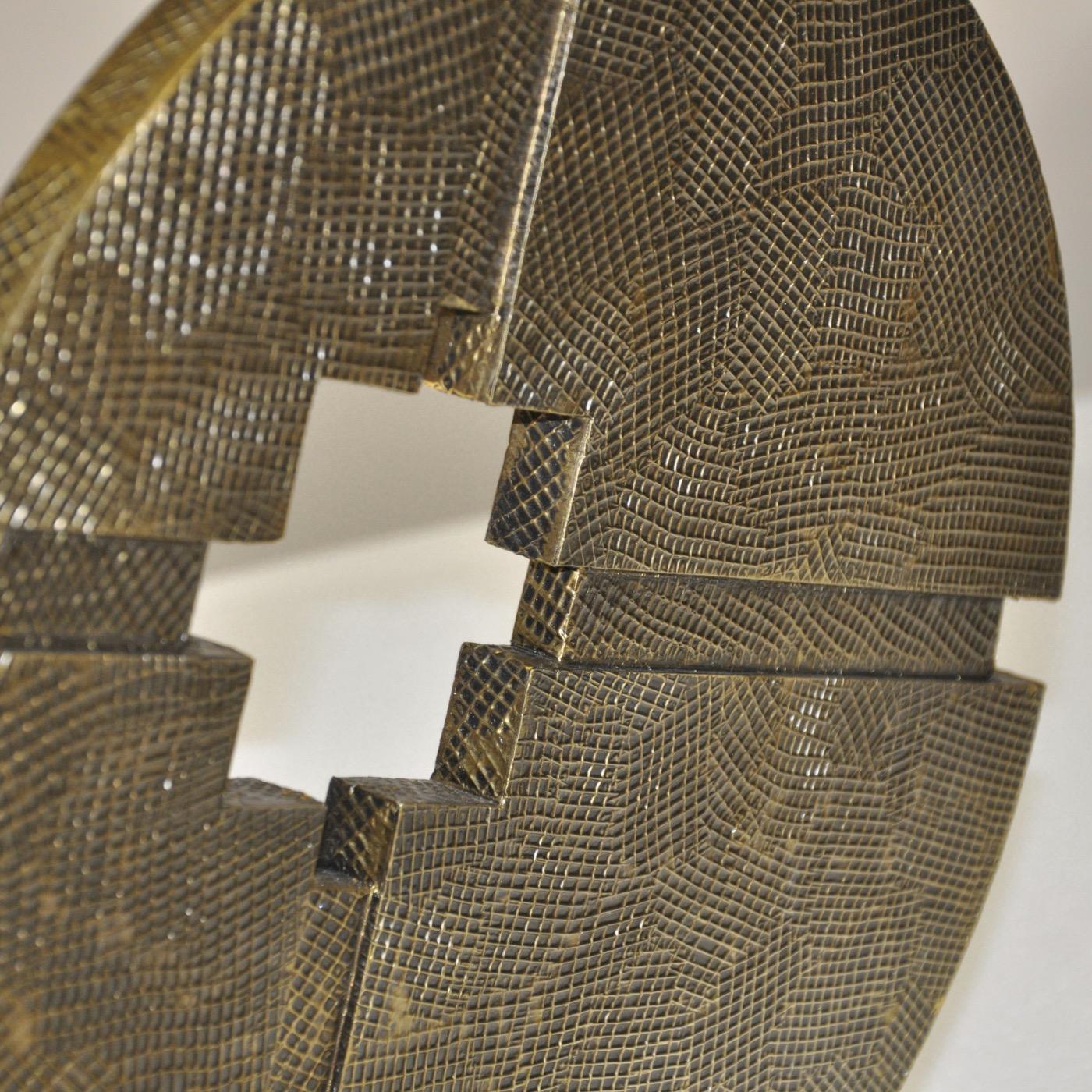 Intercepta Sculpture | Antique Brass