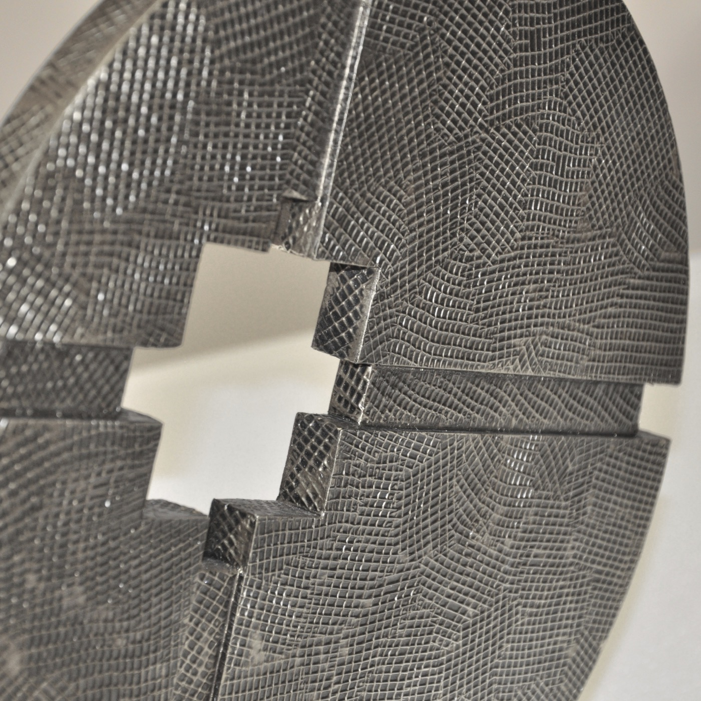 Intercepta Sculpture | Antique Nickel