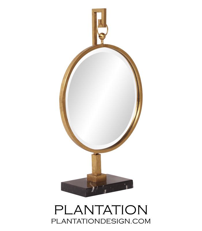 Alden Table Mirror | Gold