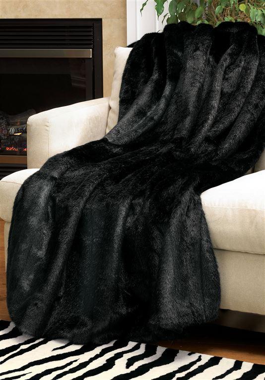 "Classique ""Fur"" Throw | Black Mink"