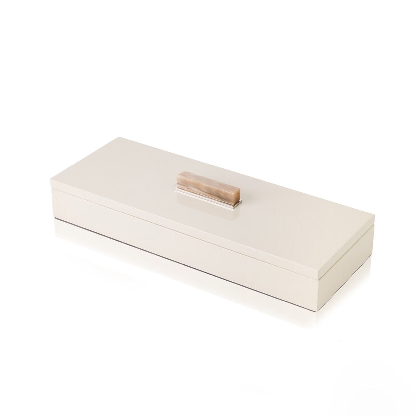 Mombusa Rectangular Lacquer Boxes | Champagne