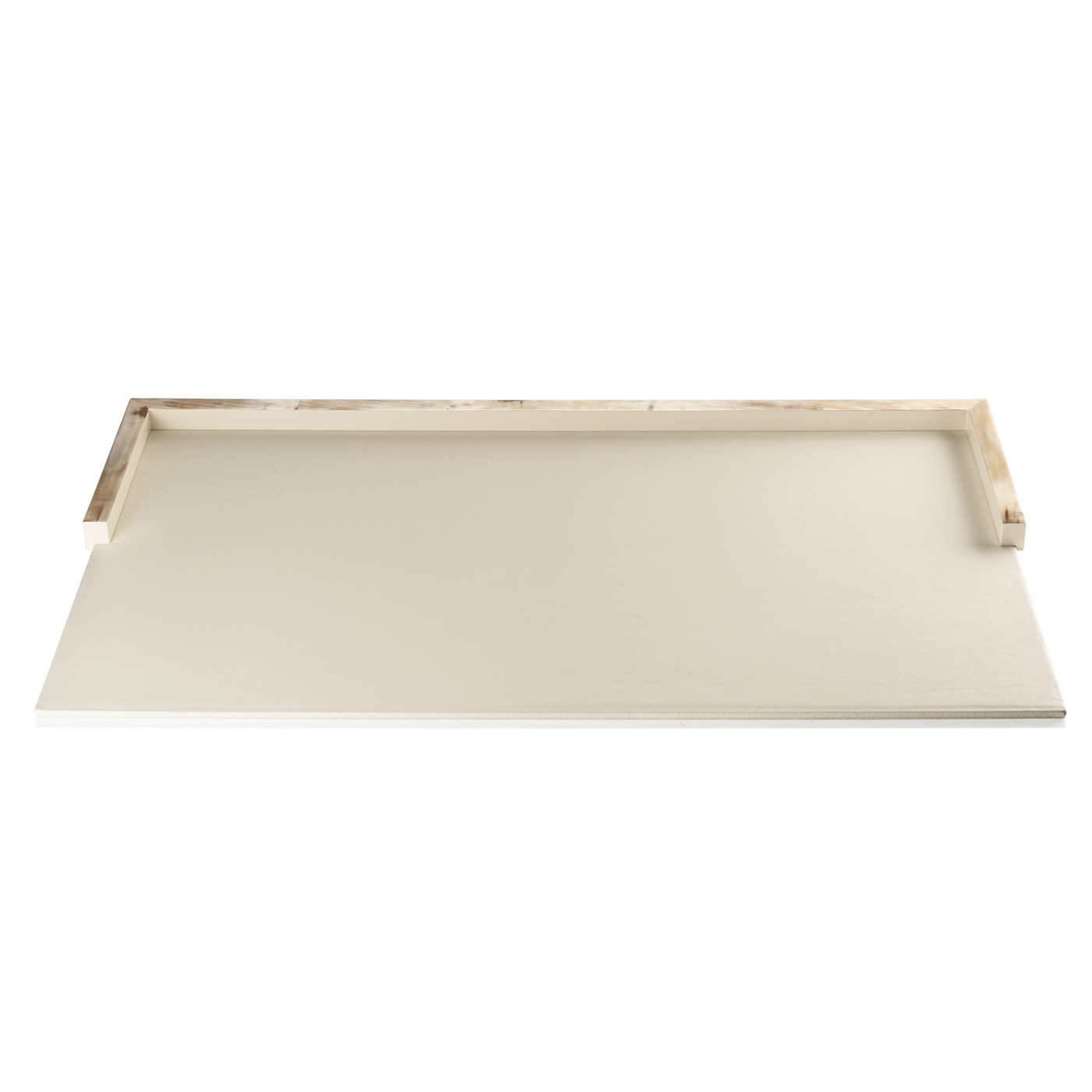 Dustin Leather Desk Blotter | Ivory
