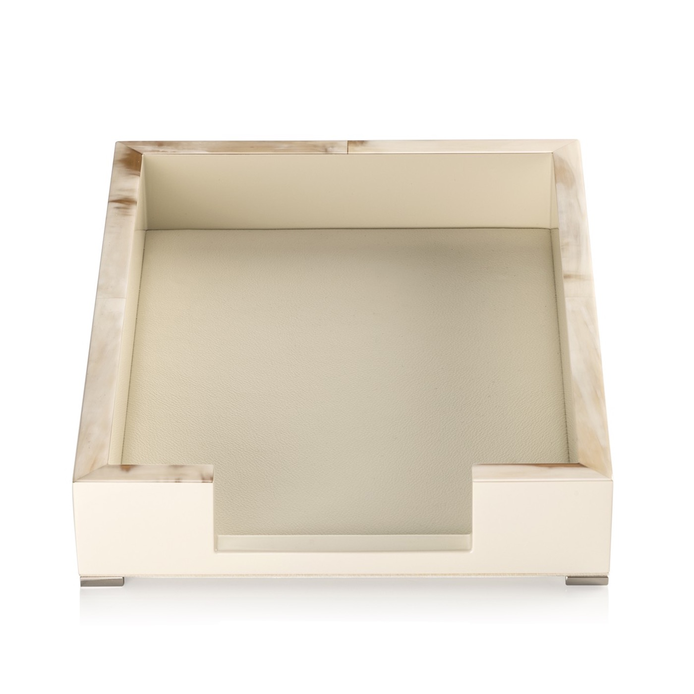Dustin Lacquer Letter Tray | Ivory