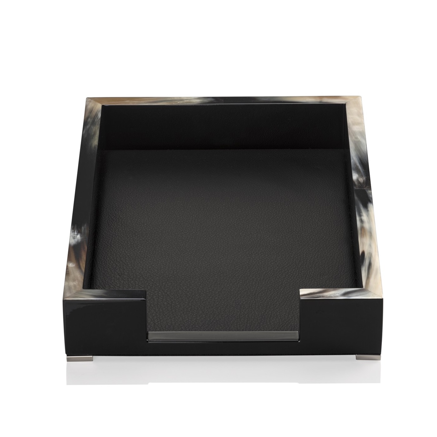 Dustin Lacquer Letter Tray   Black