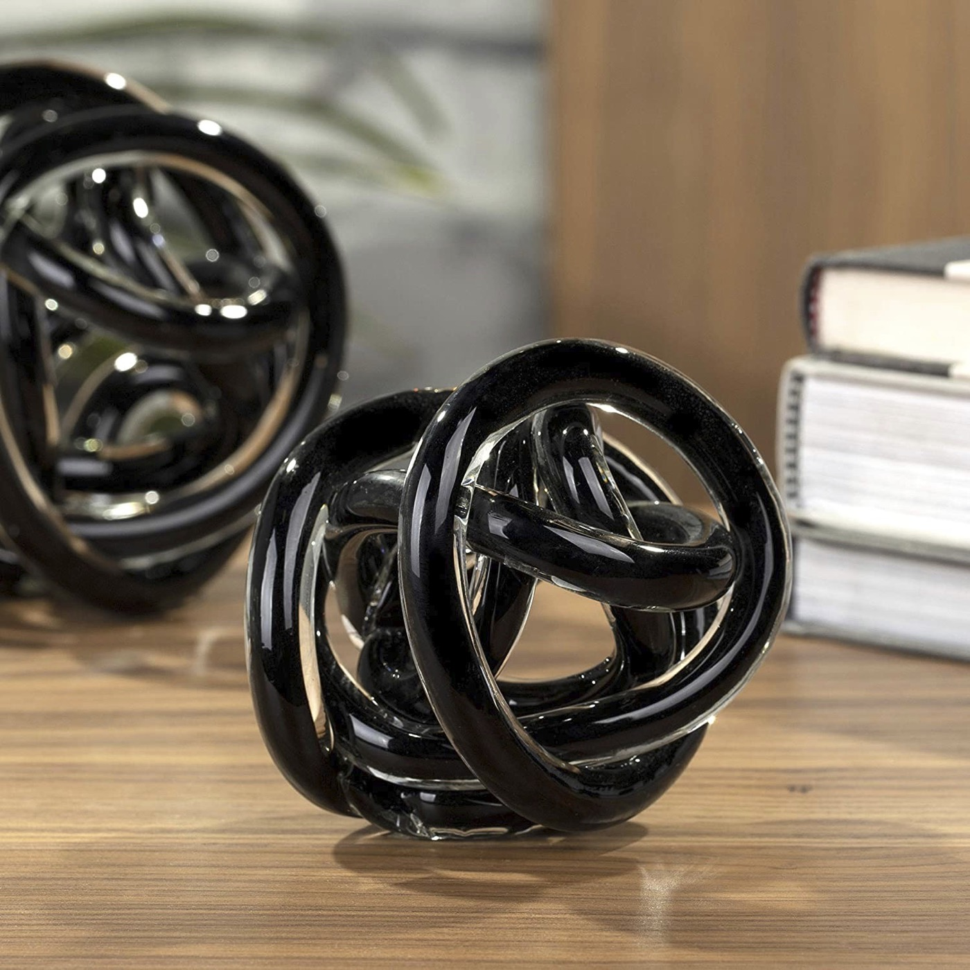 Entwined Glass Orb | Black