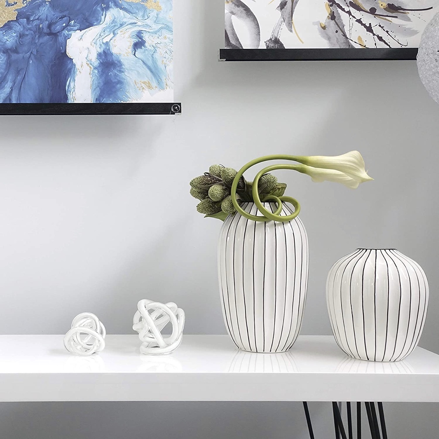 Entwined Glass Orb | White