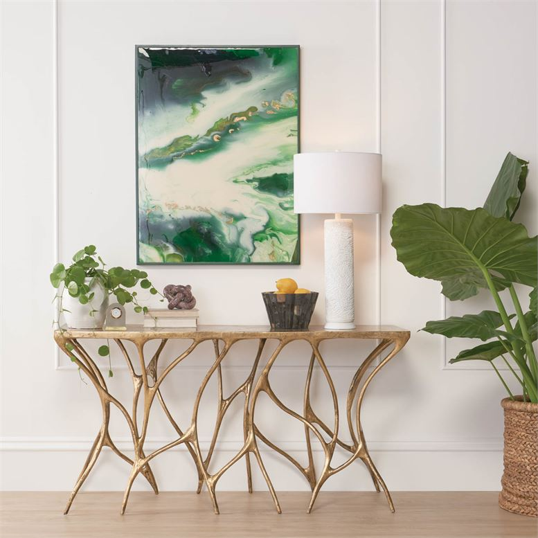 Thicket Long Console Table | Gold