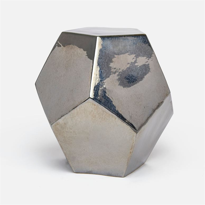 Polyhedron Stool/Side Table | Silver