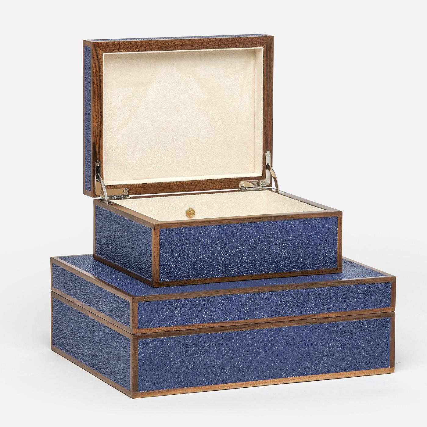 "Zaria ""Shagreen"" Boxes | Dark Blue"