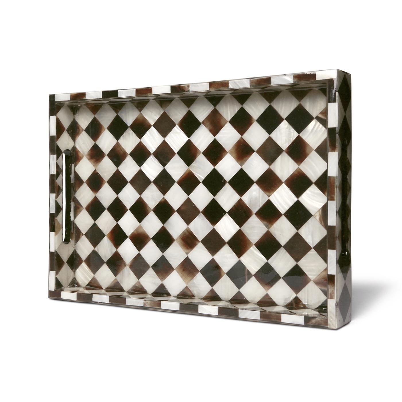 Velma Horn Checkered Trays