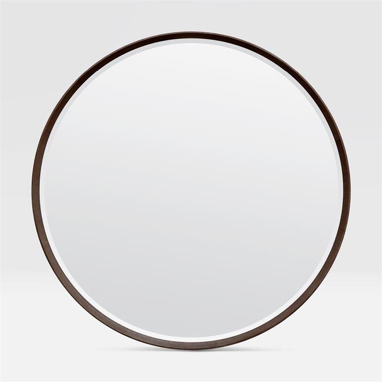"Knightley ""Shagreen"" Mirror | Brown"