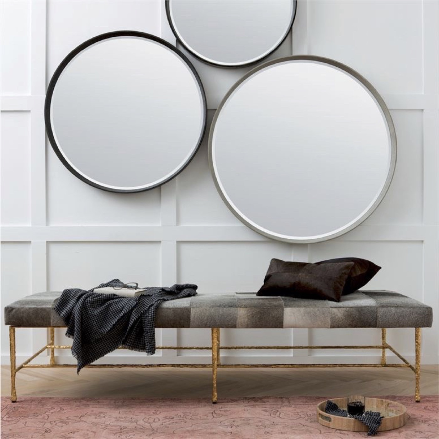 "Knightley ""Shagreen"" Mirrors | Ivory"