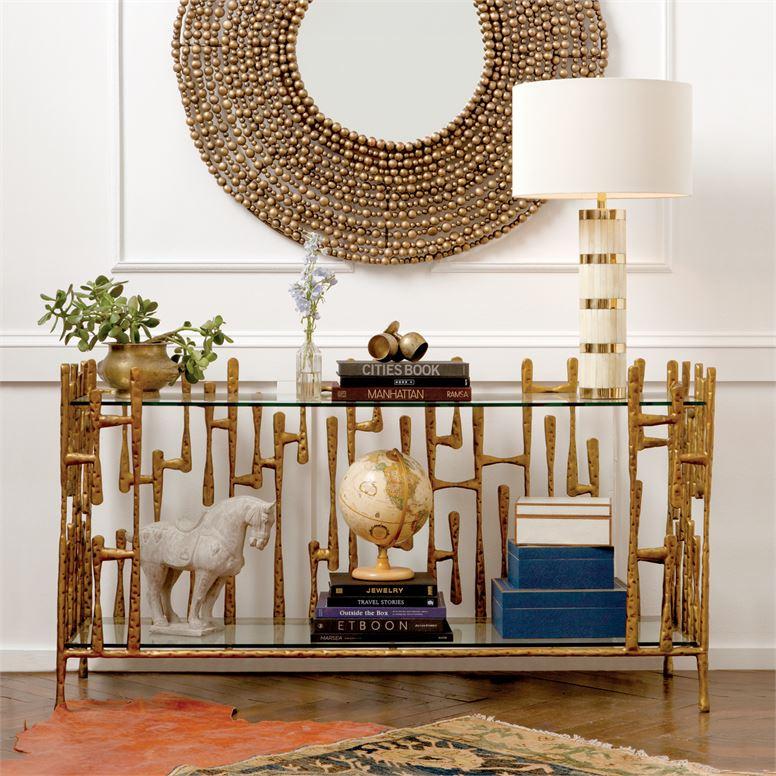 Gaudi Brass Console Table