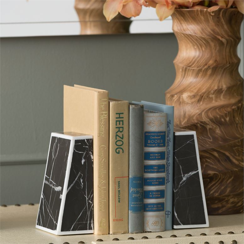 Demos Marble Bookends