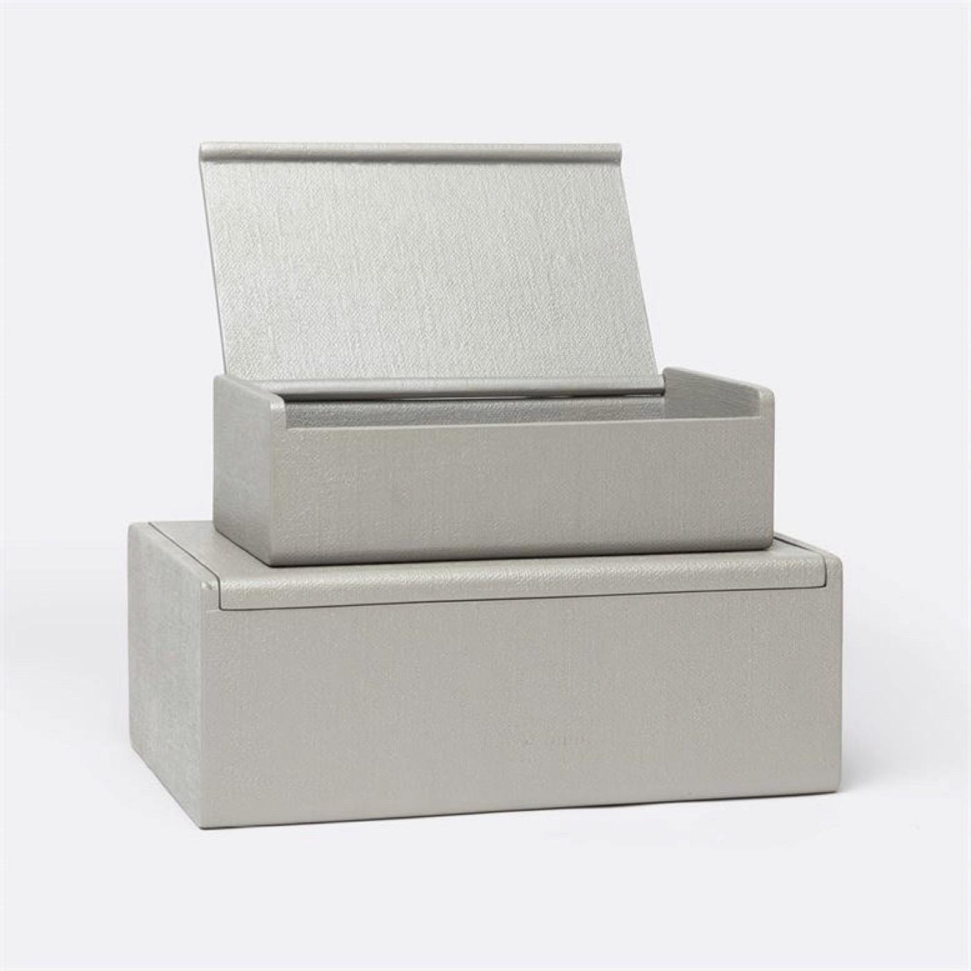 "Doris ""Linen"" Boxes Set | Grey"