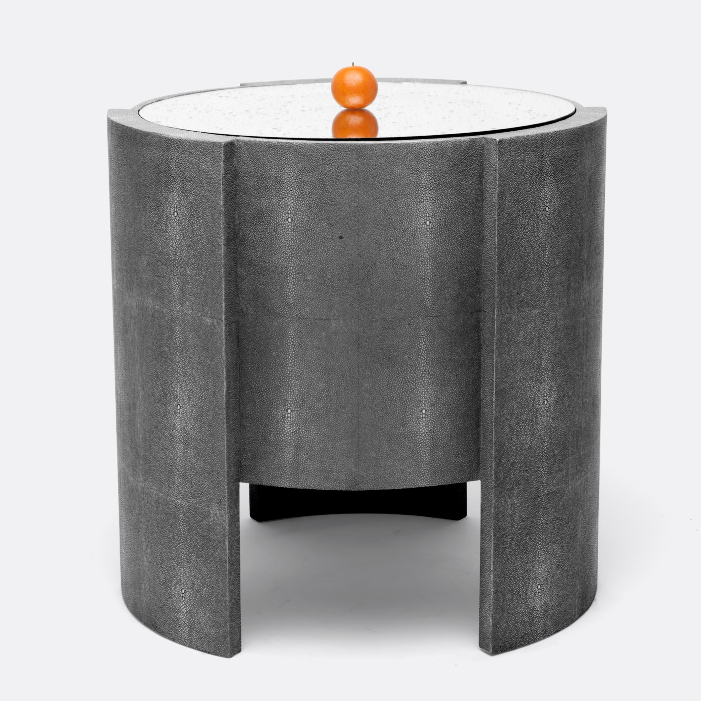 "Cayman ""Shagreen"" Side Table | Grey"