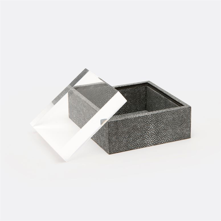 "Gimba Square ""Shagreen"" Box | Grey"