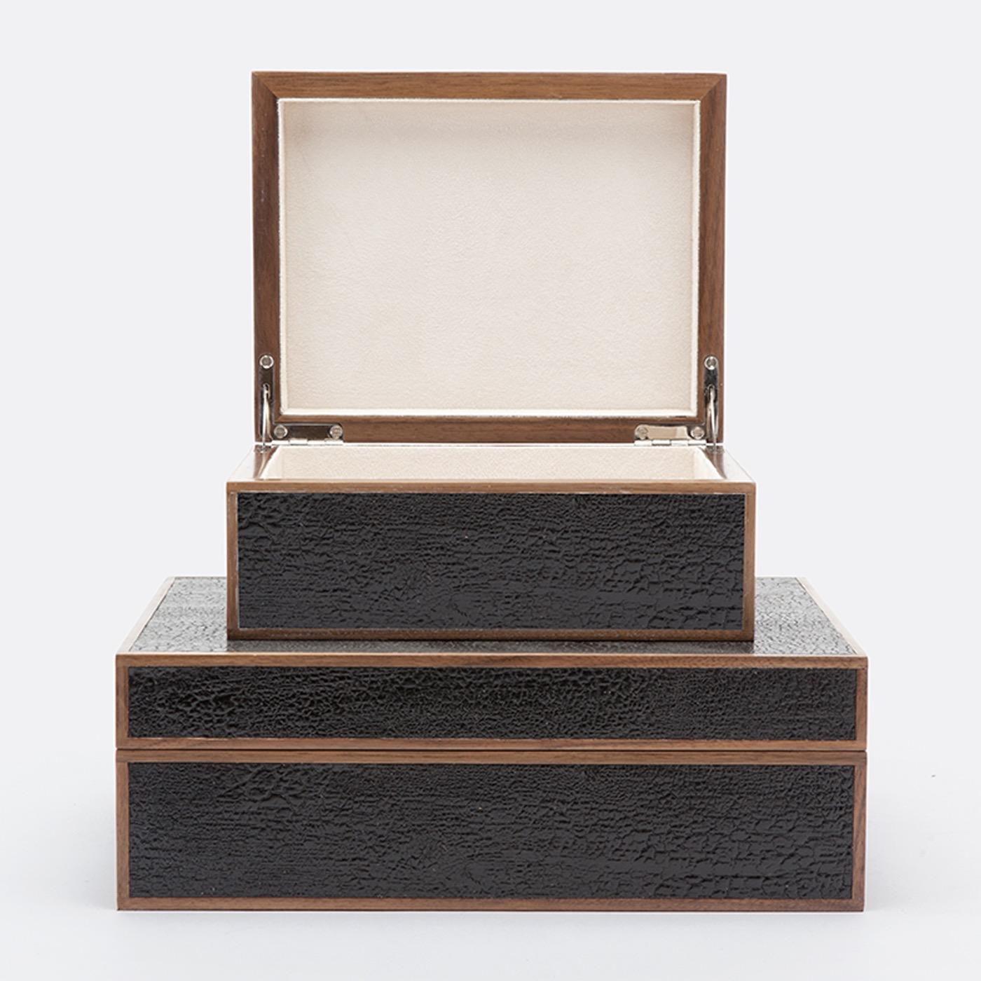 Jessen Textured Boxes Set | Black