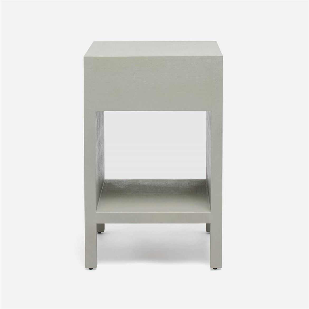 "Maura Narrow ""Linen"" Side Table | Light Grey"