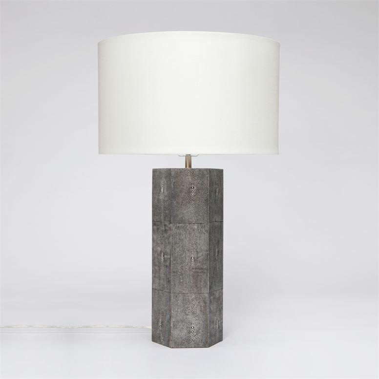 "Mathison ""Shagreen"" Table Lamps | Grey"