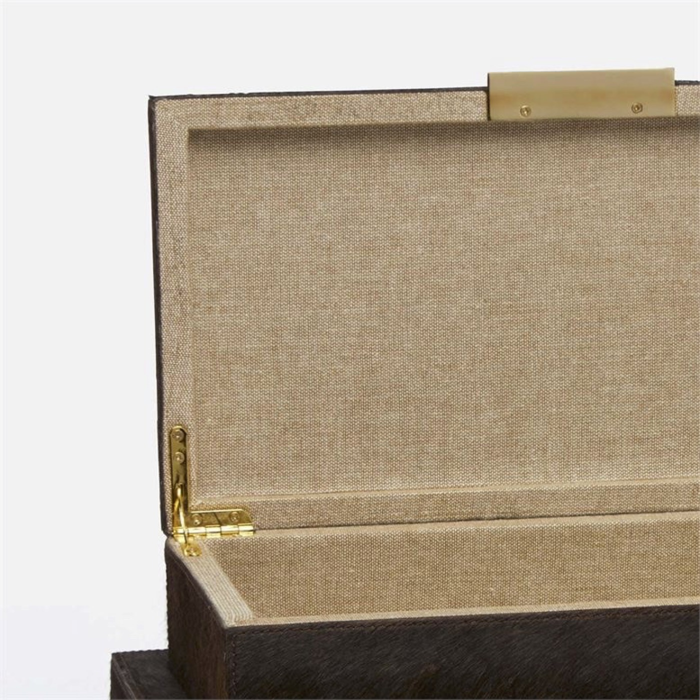 Halsey Boxes Set | Brown Hide