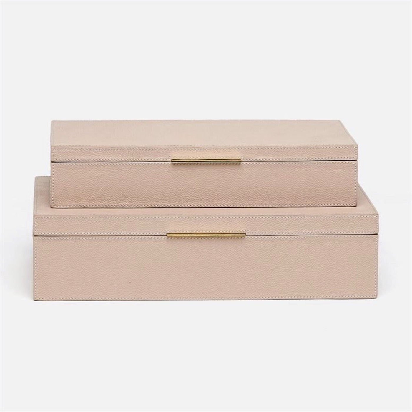 Halsey Boxes Set | Pink Leather