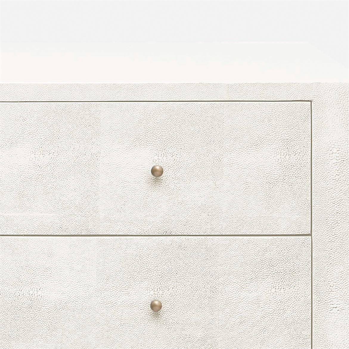"""Emmett """"Shagreen"""" Double Dresser   White"""