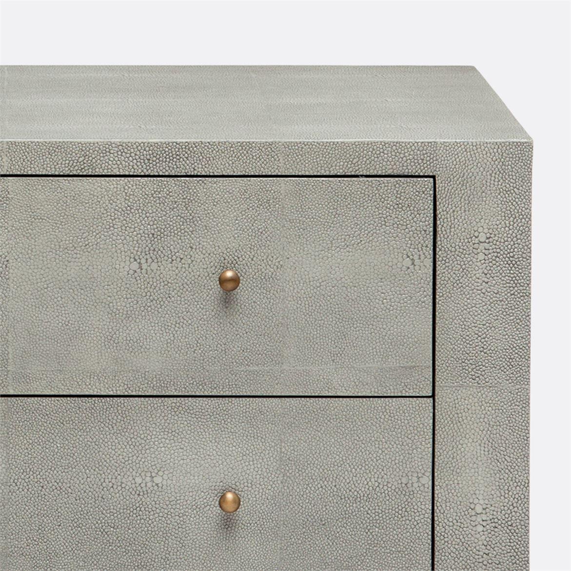 Emmett Wide Side Table | Light Grey