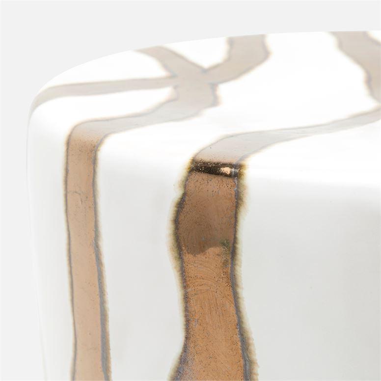 Kasoy Ceramic Stool | Gold