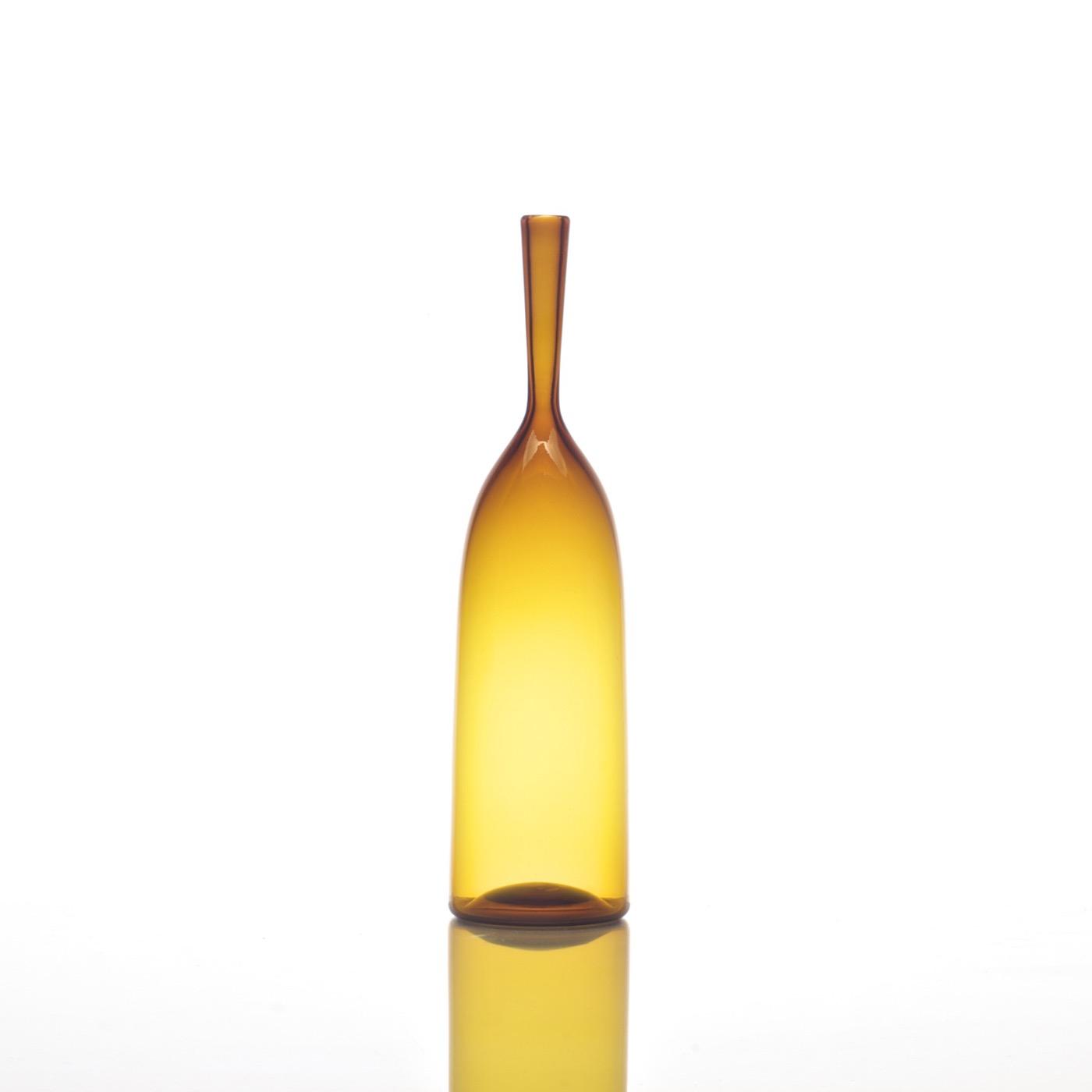 Hues Glass Bottle Vases   Amber